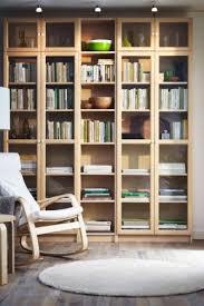 ikea bookcase racks with glass doors