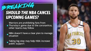 NBA cancel its upcoming games? [Video ...