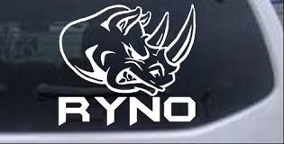 Ryno Rhino Decal Car Or Truck Window Decal Sticker Rad Dezigns