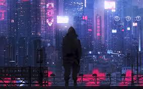 3840x2400 city silhouette art