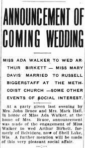Ada Walker & Birkett Announcement - Newspapers.com