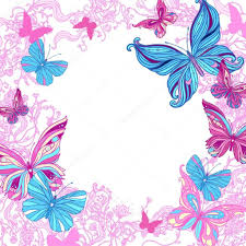 Marcos Para Fotos Con Preciosas Mariposas Marco De Fotos Marcos