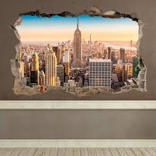 Wall Sticker Trompe L Oeil Hole In The Wall New York Muraldecal Com