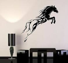 Vinyl Wall Decal Horse Mustang Horserace Garage Decor Stickers 308ig Ebay