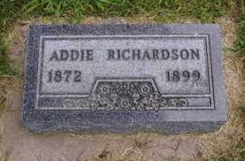 RICHARDSON, ADDIE - Minnehaha County, South Dakota | ADDIE RICHARDSON -  South Dakota Gravestone Photos