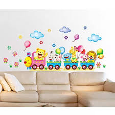 Vova 2016 New Arrivals Baby Kids Room Animals Wall Stickers Cartoon Train Decals Diy Decoration Hot Sale