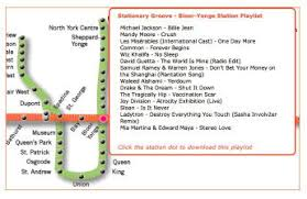 Website stationarygroove.com tracks the songs of the subway   The Star