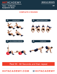 quick ab workout hiit academy
