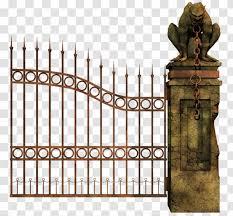 Iron Fence Gate Door Facade Cemeterygates Transparent Png