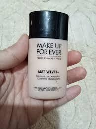 red makeup forever mat velvet