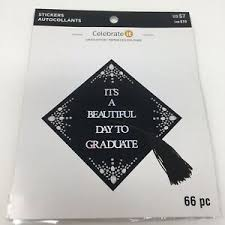 Its A Beautiful Day To Graduate Class Of Graduation Cap Crystal Stickers Quote Ebay