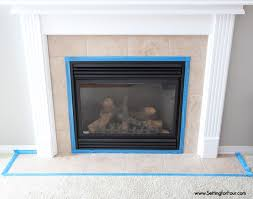 how to paint tile easy fireplace