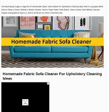 mix homemade fabric sofa cleaner for