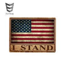 Earlfamily Rustic I Stand Usa American Flag Sticker Vinyl Decal Us America Merica Proud Citizen Car Truck Vehicle Graphic Laptop Car Stickers Aliexpress