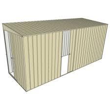single sliding side door skillion shed
