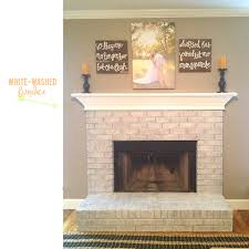 our fireplace is white washed heape