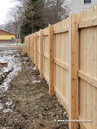 Solid Dog Ear Wood Fence Panels Straight Top Cedar Hoover Fence Co