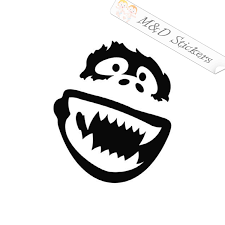 2x Yeti Bigfoot Vinyl Decal Sticker Different Colors Size For Cars B M D Stickers