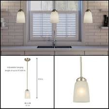 light brushed nickel mini pendant