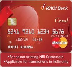 icici bank nri c credit card