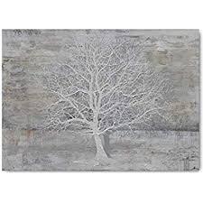 abstract tree canvas wall art