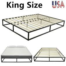 king size quick assembly wood slat