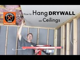 how to hang drywall ceilings by home