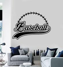 Vinyl Wall Decal Baseball Word Abstract Ball Fan Sport Stickers Mural Wallstickers4you