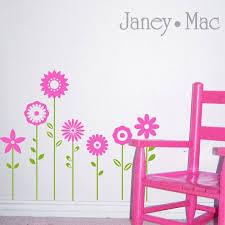Flowers Baseboard Wall Decal Children S Bedroom Vinyl Wall Room Decor Sticker Girl Wall Art Ct102a Sticker Wall Art Vinyl Wall Decals Flower Wall Decals