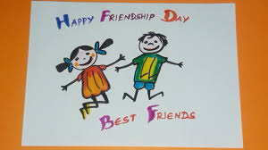 Happy Friendship day Drawing Step by ...