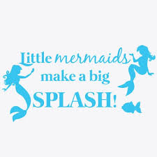 Mermaid Kisses And Starfish Wishes Wall Decal For Girls Wall Decor