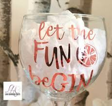 Gift Diy Craft Personalised Rose Gold Gin Vodka Wine Glass Vinyl Decal Sticker Decor Decals Stickers Vinyl Art