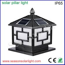 China Easy Install 5w Outdoor Fence Post Solar Light For Gate Lighting With Double Led Light China Solar Light Fence Post Solar Light