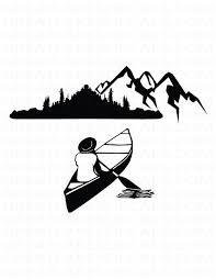 Canoe Vinyl Decal Sticker