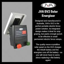 Product Of The Week Jva S Sv2 Solar Electric Fence Energiser Jva Electricfencing Sv2 Solar Electric Fence Energizer Solar Electric Fence Electric Fence