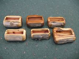 Log Furniture Art These Business Card Holders Are Made From Old Cedar Fence Posts These Cedar Wood Projects Log Furniture Fence Post Crafts