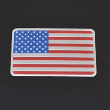 Aluminum American Flag Car Decal Made In The Usa