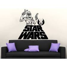 Shop Star Wars Logo Boba Fett Vinyl Sticker Decals Nursery Baby Room Home Sticker Decal Size 22x26 Color Black Overstock 14018952