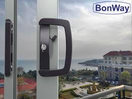 sliding patio door handle set for