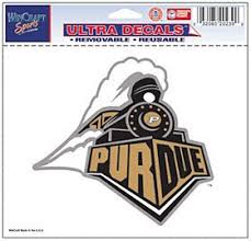 Purdue Boilermakers 5 X6 Ultra Auto Car Decal Sticker Static Cling Walmart Com Walmart Com