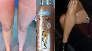 sally hansen airbrush legs review