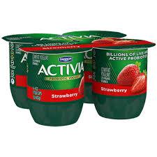 activia yogurt strawberry 4oz