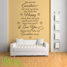 You Are My Sunshine Wall Sticker Quote Bedroom Home Wall Art Decal X230 Ebay