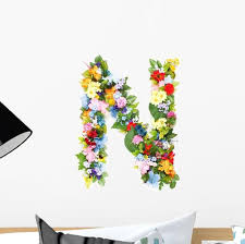 Flower Arrangement Letter N Wall Decal Wallmonkeys Com