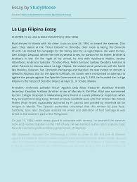 Persona of Rizal and La Liga Filipina Free Essay Example