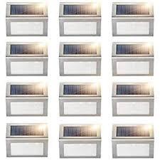 Garten Terrasse Othway Solar Fence Post Lights Wall Mount Decorative Deck Lighting Black 4 Packs Maybrands Com Ng