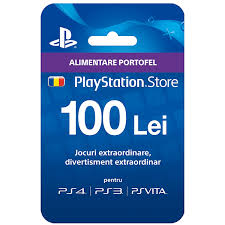 playstation network card 100lei psn