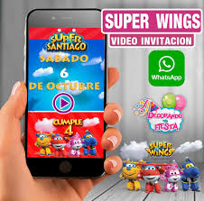 Video Invitacion Para Cumpleanos Super Wings 179 00 En