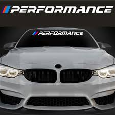 For Bmw M Performance Car Vinyl Decal Sticker Window Windshield Bumper Banner M3 M5 Da4 0018 Buy At The Price Of 9 47 In Aliexpress Com Imall Com