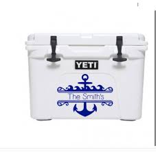 Anchor Decal Last Name Decal Last Name Yeti Cooler Decal Etsy